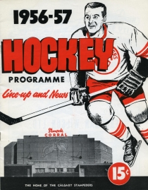 Calgary Stampeders 1956-57 game program