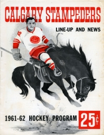 Calgary Stampeders 1961-62 game program