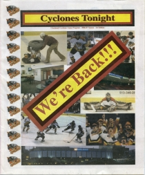 Cincinnati Cyclones Game Program