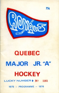 1975-76 Quebec Major Junior Hockey League [QMJHL] standings