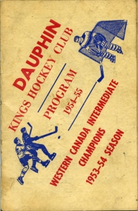 Dauphin Kings 1954-55 game program