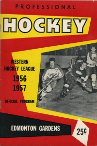 Edmonton Flyers 1956-57 game program