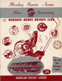 Hershey Bears 1961-62 game program