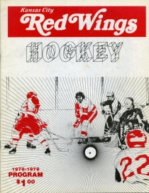 Kansas City Red Wings 1978-79 game program