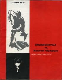 Montreal Olympics 1961-62 game program
