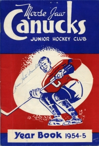 Moose Jaw Canucks 1954-55 game program