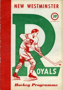 New Westminster Royals 1952-53 game program