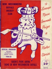 New Westminster Royals 1954-55 game program