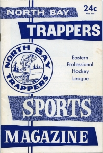 North Bay Trappers 1961-62 game program