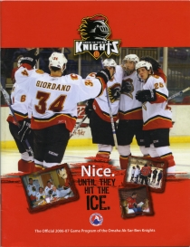 Omaha Ak-Sar-Ben Knights 2006-07 game program