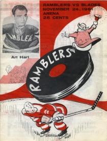 Philadelphia Ramblers 1961-62 game program