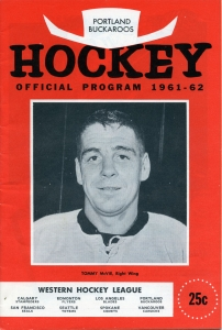 Portland Buckaroos 1961-62 game program