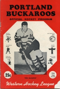 Portland Buckaroos Game Program