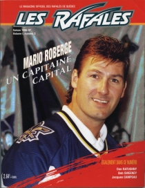 Quebec Rafales 1996-97 game program