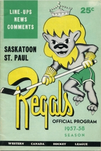 Saskatoon Regals/St. Paul Saints 1957-58 game program