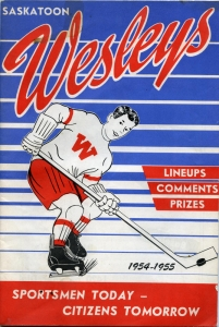 Saskatoon Wesleys 1954-55 game program