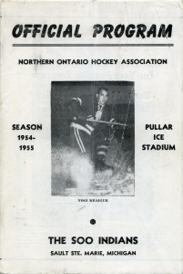 Sault Ste. Marie Indians 1954-55 game program