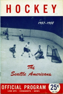 Seattle Americans 1957-58 game program