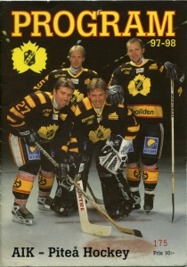 Skelleftea AIK 1997-98 game program