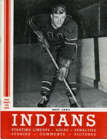 Springfield Indians 1954-55 game program