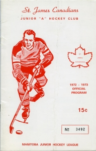 St. James Canadians 1972-73 game program