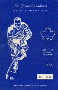 St. James Canadians 1973-74 game program