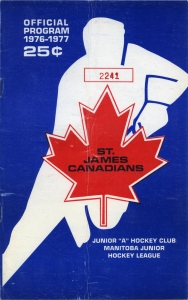 St. James Canadians 1976-77 game program