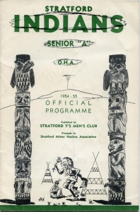 Stratford Indians 1954-55 game program