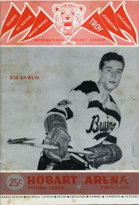 Troy Bruins 1954-55 game program
