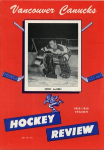 Vancouver Canucks 1958-59 game program