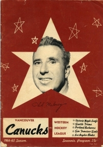 Vancouver Canucks 1964-65 game program