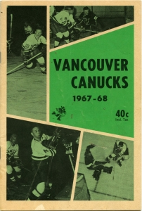 Vancouver Canucks 1967-68 game program