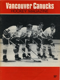 Vancouver Canucks 1969-70 game program