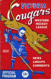 Victoria Cougars 1953-54 game program