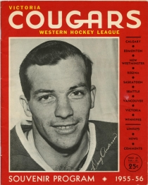 Victoria Cougars 1955-56 game program