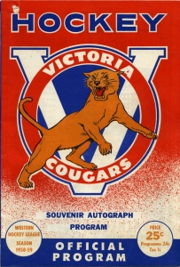 Victoria Cougars 1958-59 game program