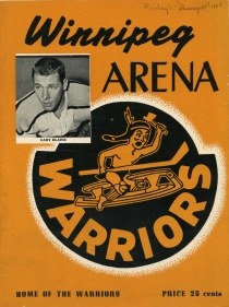 Winnipeg Warriors 1955-56 game program