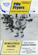 Fife Flyers 1991-92 program cover