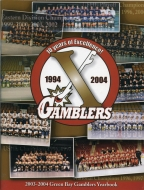 Green Bay Gamblers 2003-04 program cover