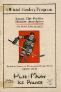 Kansas City Pla-Mors 1931-32 program cover