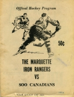 Marquette Iron Rangers 1969-70 program cover