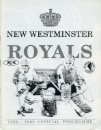 New Westminster Royals 1989-90 program cover