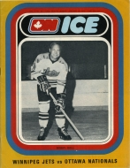 Ottawa Nationals 1972-73 program cover