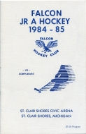 St. Clair Shores Falcons 1984-85 program cover