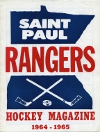 St. Paul Rangers 1964-65 program cover