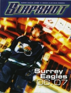 Surrey Eagles 2006-07 program cover