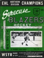 Syracuse Blazers 1972-73 program cover