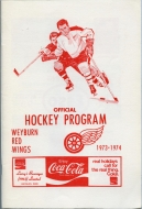 Weyburn Red Wings 1973-74 program cover